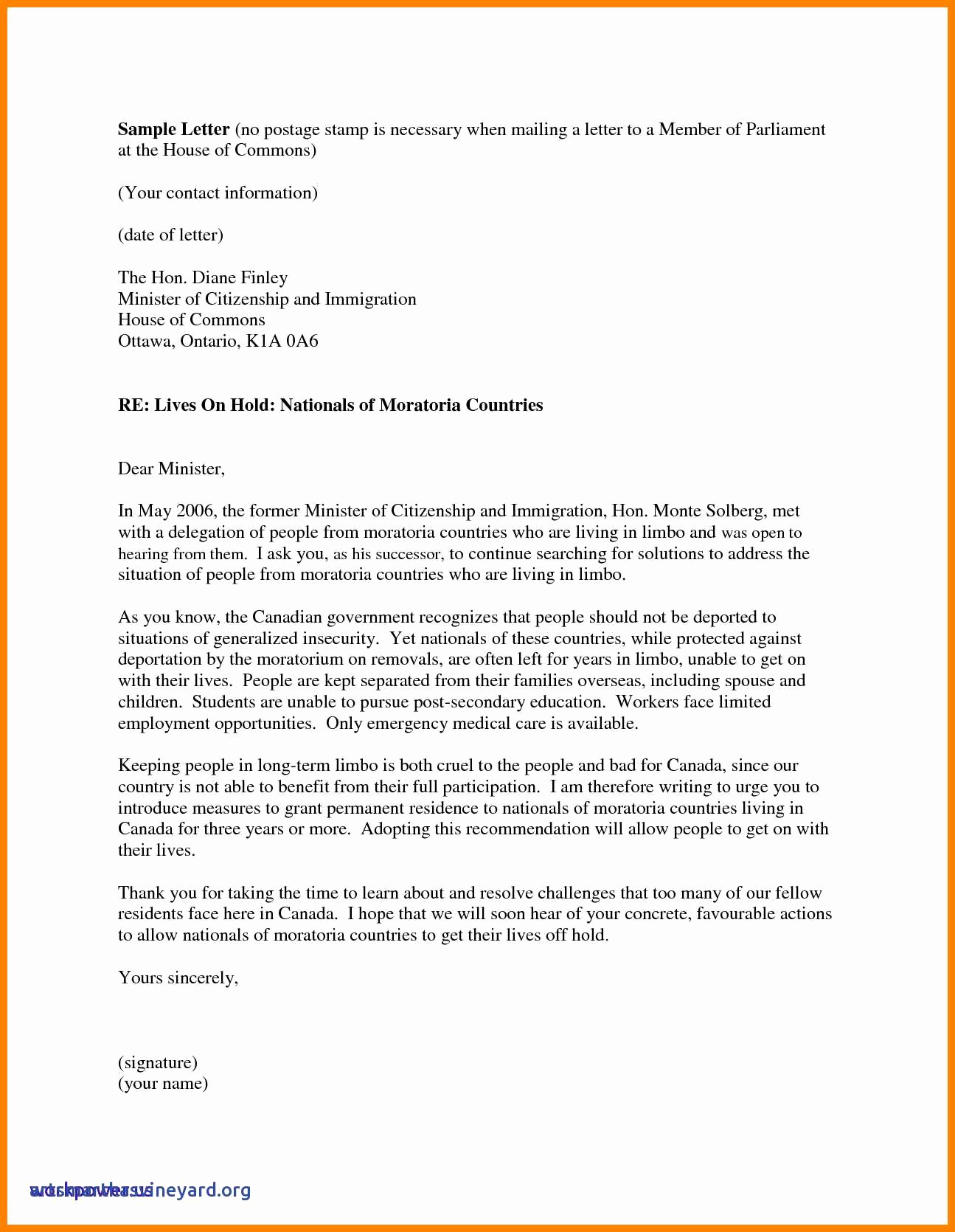 Recommendation Letter for Immigration Unique Immigration Reference Letter Template Download
