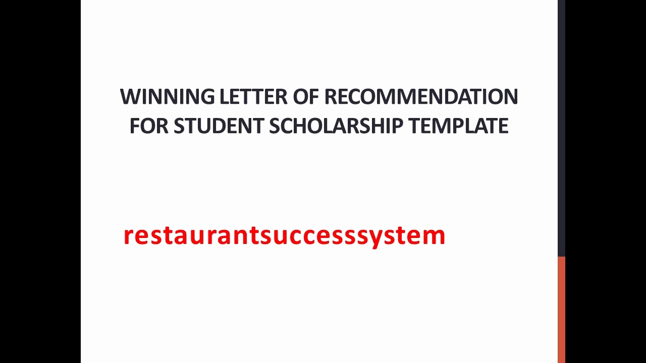 Recommendation Letter for Student Scholarship Awesome Winning Letter Of Re Mendation for Student Scholarship
