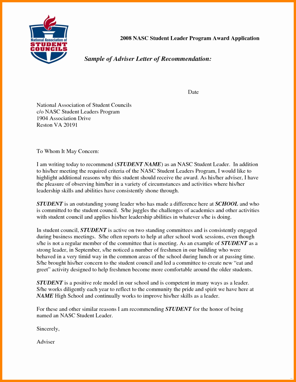 Recommendation Letter for Student Scholarship Elegant 9 Re Mendation Letters for Students Scholarships