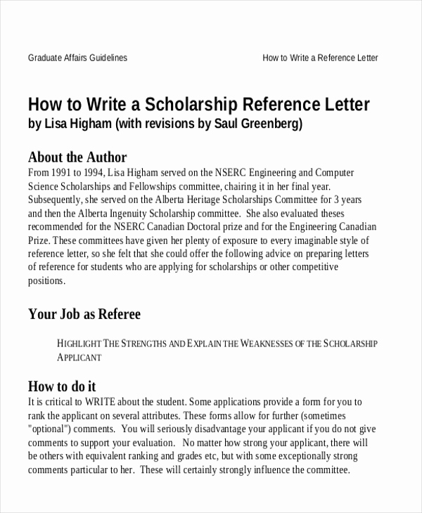 Recommendation Letter for Student Scholarship New Sample Reference Letter for Student Examples In Pdf Word