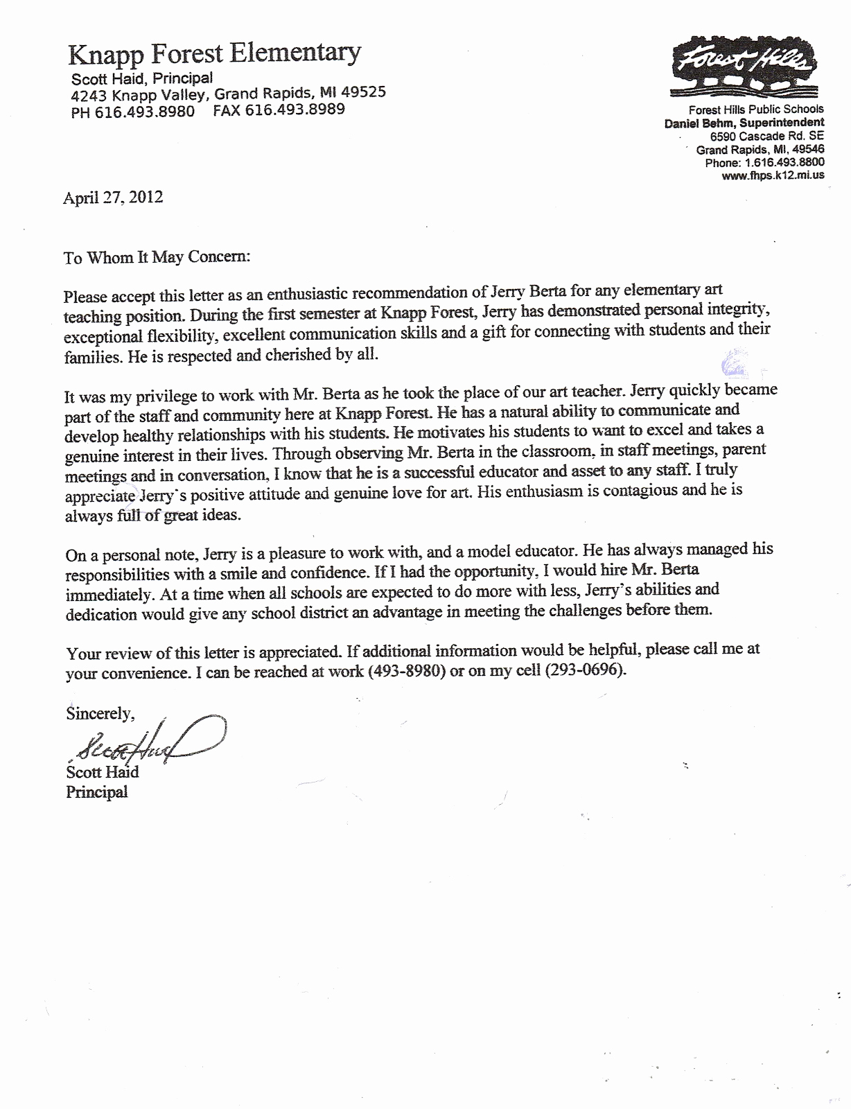 Recommendation Letter for Teacher Beautiful Six Letters Of Re Mendation