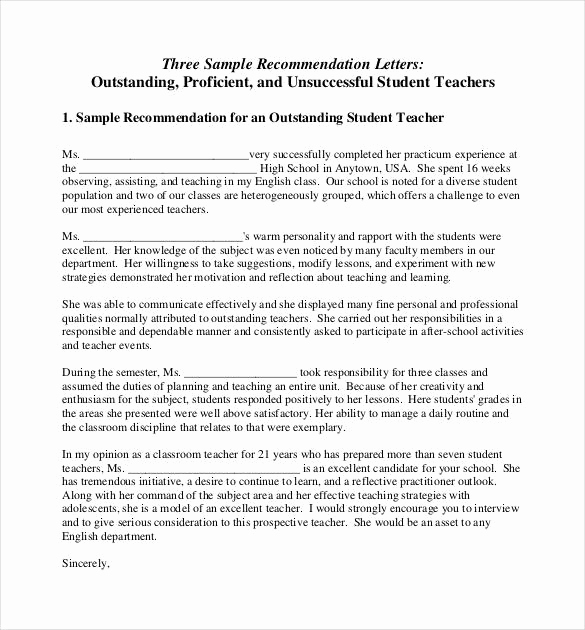 Recommendation Letter for Teacher New How to Write A Letter Re Mendation for A Teacher