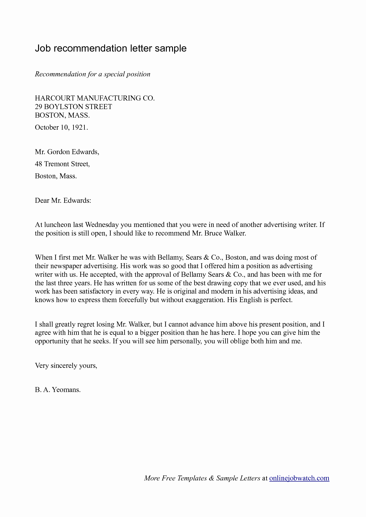 Recommendation Letter Template for Job Best Of Simple Guide Professional Reference Letter with Samples