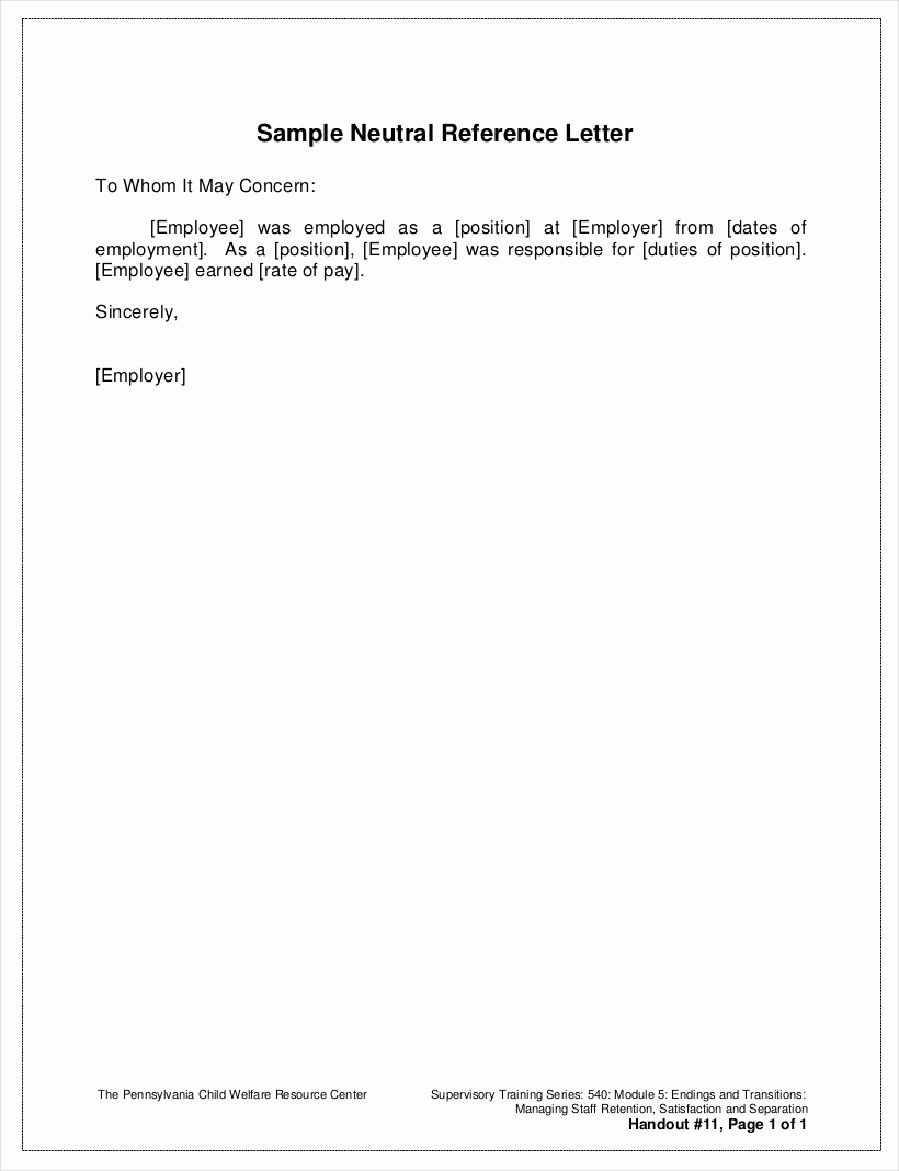 Recommendation Letter Template for Job Fresh 9 Employee Reference Letter Examples & Samples In Pdf