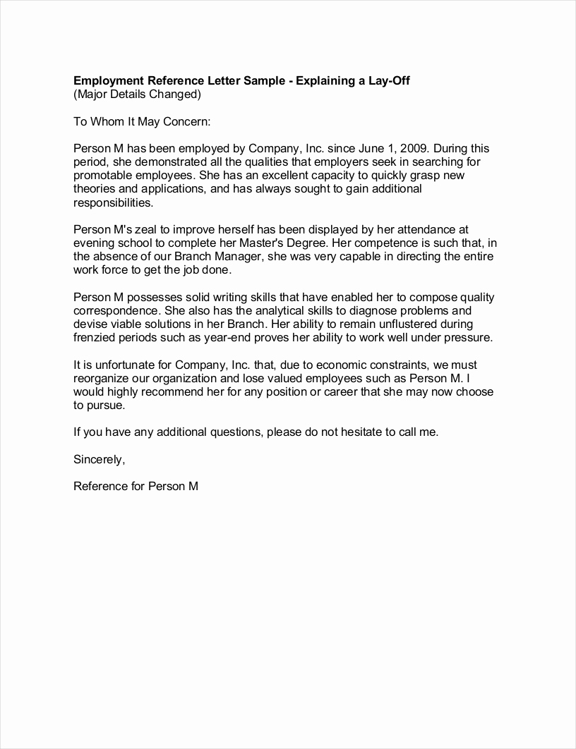 Recommendation Letter Template for Job Inspirational 9 Employee Reference Letter Examples & Samples In Pdf