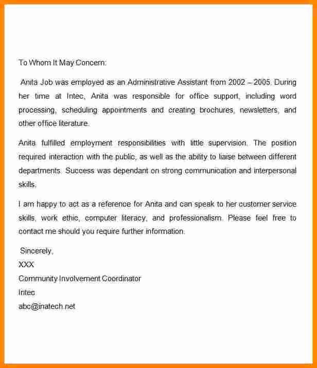 Reference Letter for A Job Best Of 7 Sample Reference Letter for Terminated Employee
