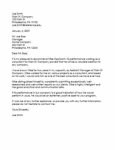 Reference Letter for Employees Best Of Employee Reference Letter Template 5 Samples that Works