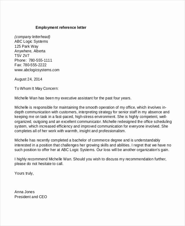 Reference Letter for Employees Elegant Template Reference Letter for Employee Google Search
