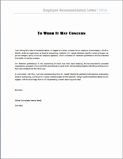 Reference Letter for Employees Inspirational 4 Academic and Employee Re Mendation Letters