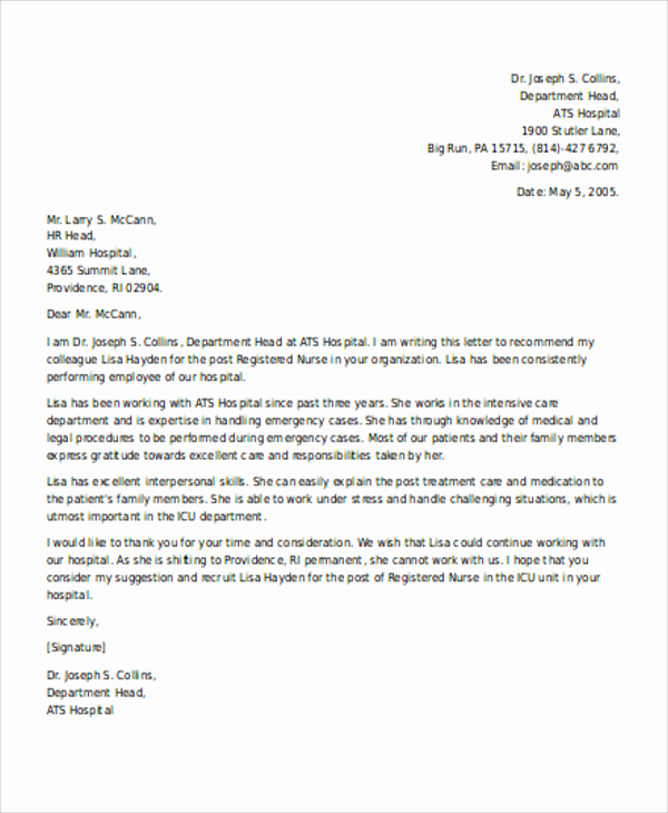 Reference Letter for Employees Luxury Re Mendation Letter for Employee