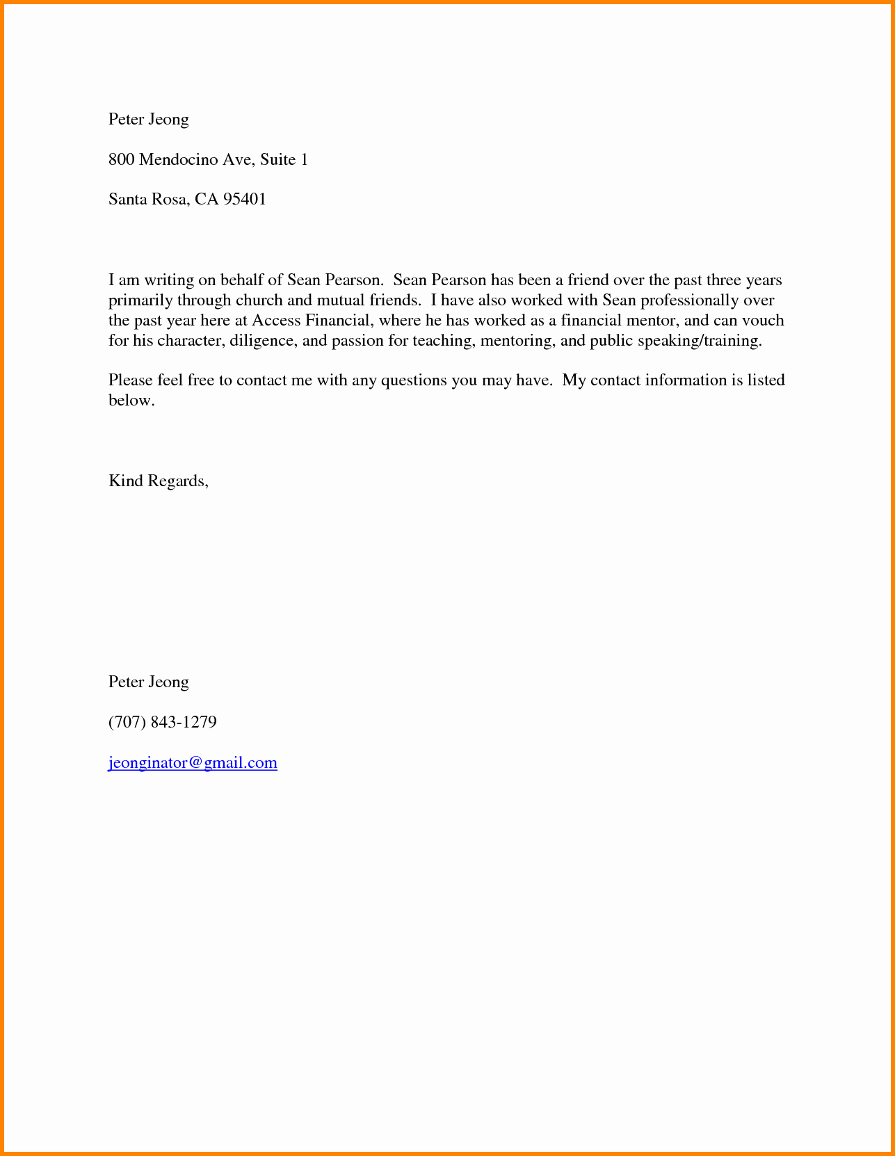 Reference Letter for Friend Lovely New 20 Job Re Mendation Letter for A Friend