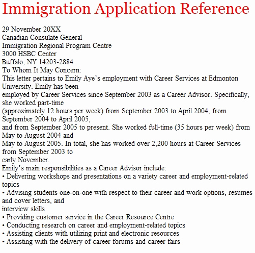 Reference Letter for Immigration Beautiful Letters Of Reference October 2012