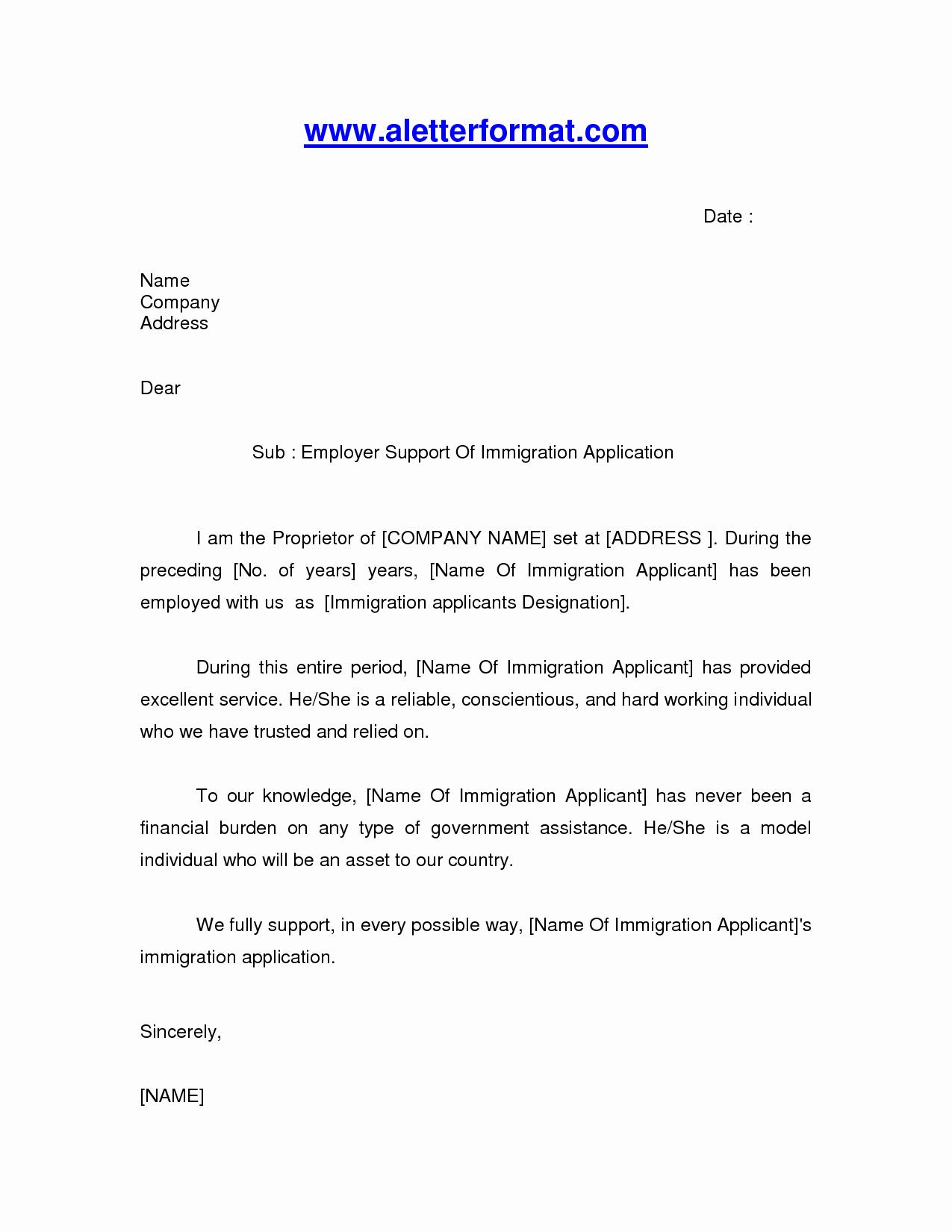 Reference Letter for Immigration Elegant Job Letter for Immigration
