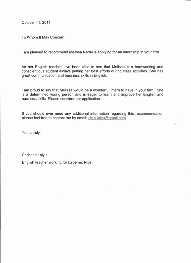 Reference Letter for Teachers New Re Mendation Letter English Teacher