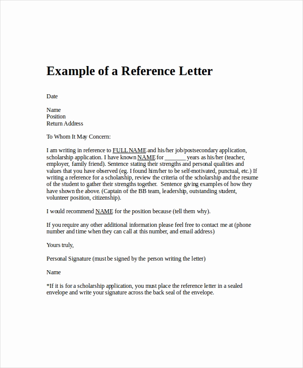Reference Letters for Employee Fresh Employment Reference Letter 8 Free Word Excel Pdf
