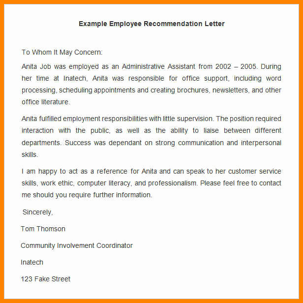 Reference Letters for Employee Inspirational 18 Employee Testimonial Examples