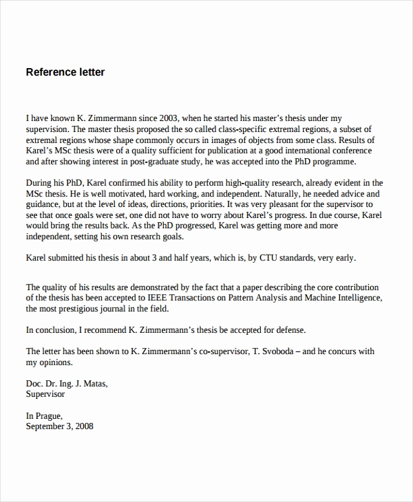 Reference Letters for Employment Beautiful 7 Job Reference Letter Templates Free Sample Example