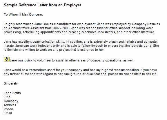 Reference Letters for Employment Inspirational 40 Awesome Personal Character Reference Letter