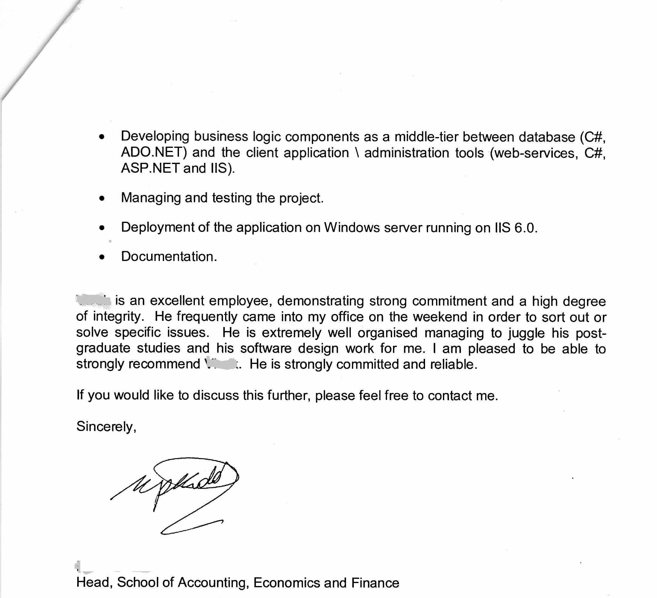 References Letter From Employer Beautiful Acs assessment British Expats