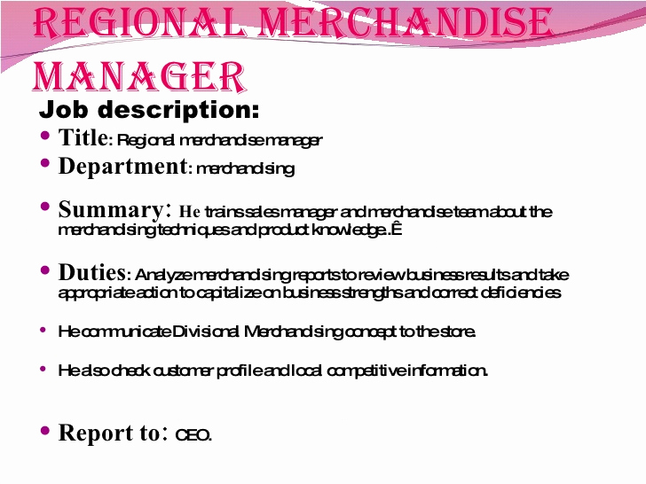 Regional Sales Manager Job Description Awesome Job Analysis In Retail Sector