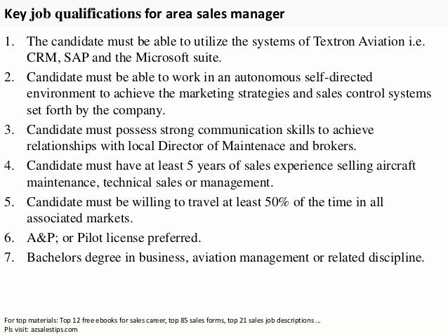 Regional Sales Manager Job Description Fresh area Sales Manager