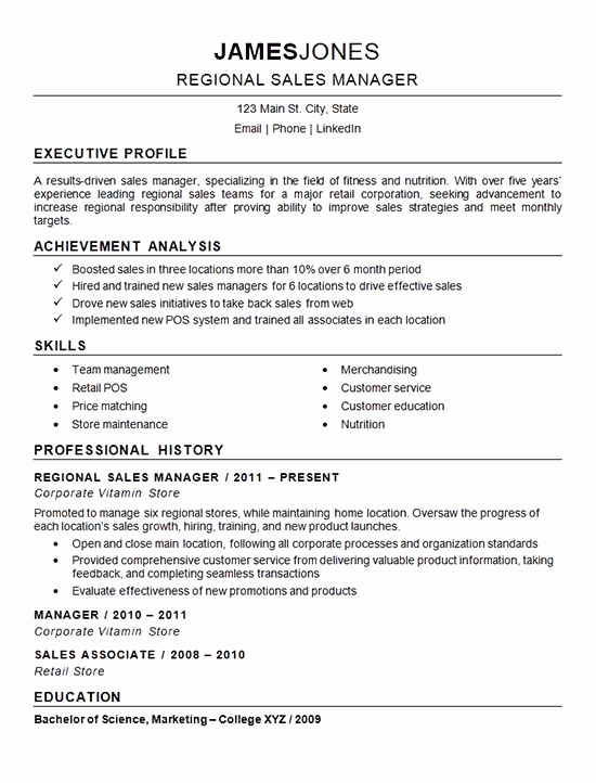 Regional Sales Manager Job Description Luxury 266 Best Resume Examples Images On Pinterest