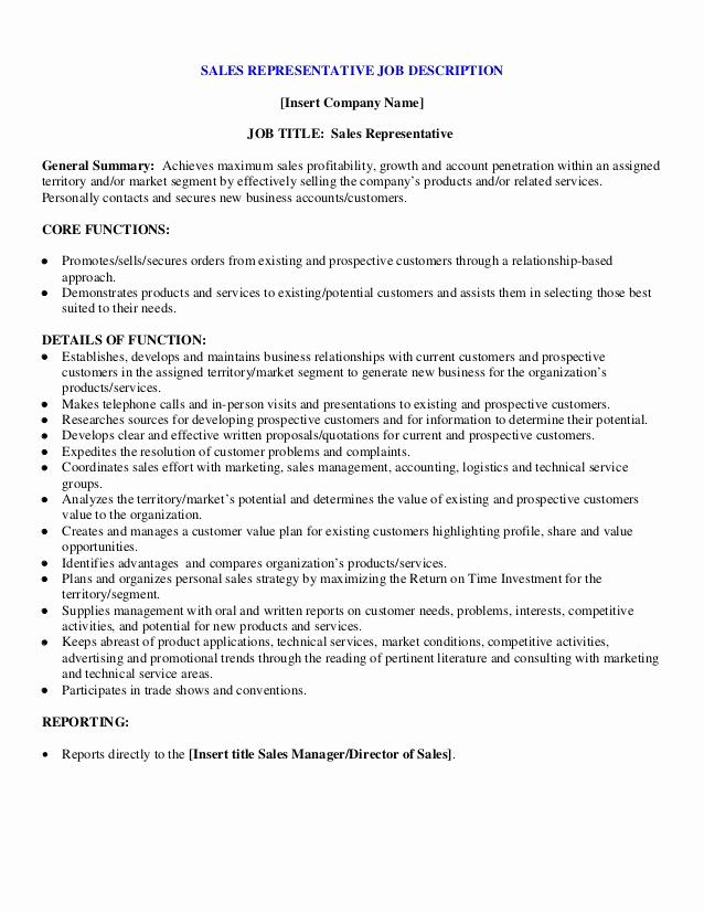 Regional Sales Manager Job Description New Sample Sales Representative Job Description