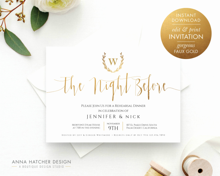 Rehearsal Dinner Invitation Template Beautiful 14 Wedding Rehearsal Invitation Designs & Templates Psd