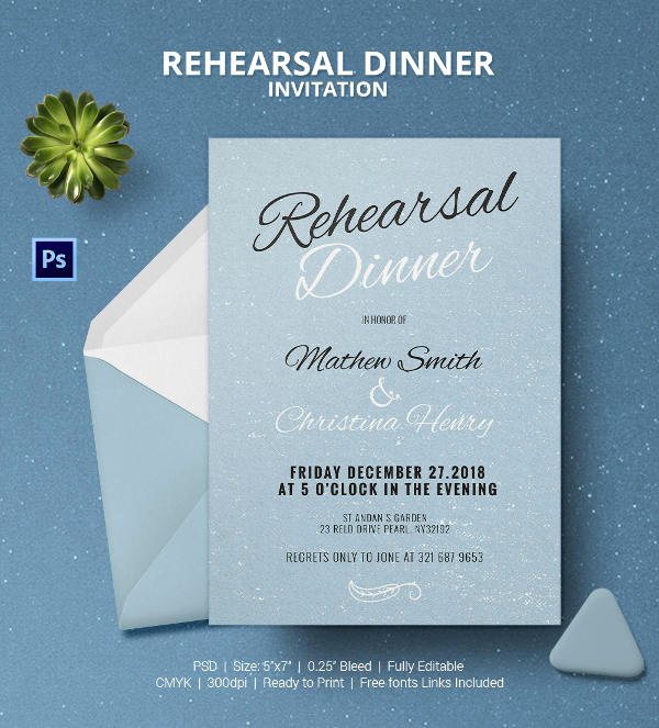 Rehearsal Dinner Invitation Template Best Of Dinner Invitation Template 35 Free Psd Vector Eps Ai