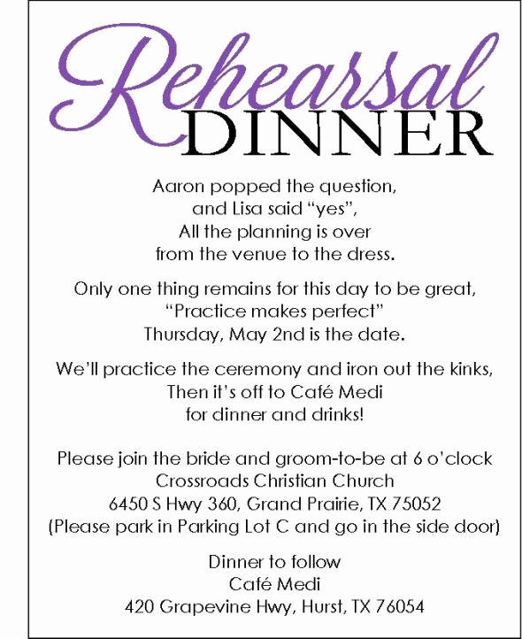 Rehearsal Dinner Invitation Template Best Of Rehearsal Dinner Invite with Template Available