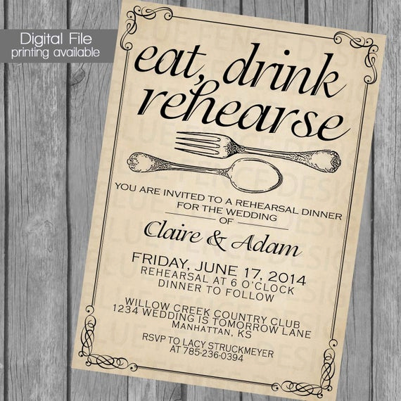 Rehearsal Dinner Invitation Template Elegant Printable Rehearsal Dinner Invitation Template Wedding
