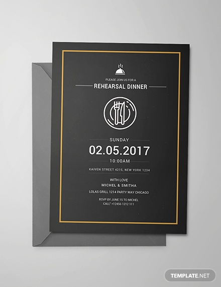 Rehearsal Dinner Invitation Template Fresh Free Rehearsal Dinner Party Invitation Template Download