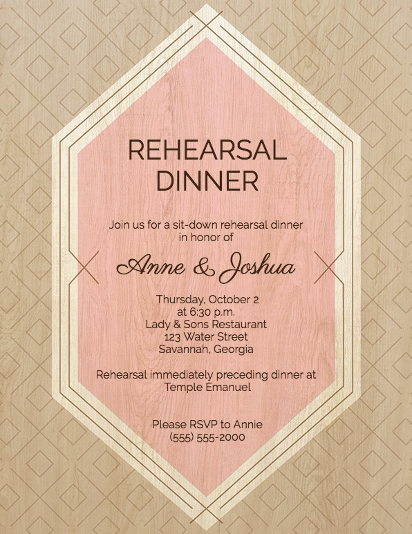Rehearsal Dinner Invitation Template Inspirational Guide to Rehearsal Dinner Invitation Wording