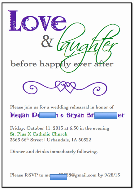 Rehearsal Dinner Invitation Template Lovely Free Template for Rehearsal Dinner Invitation