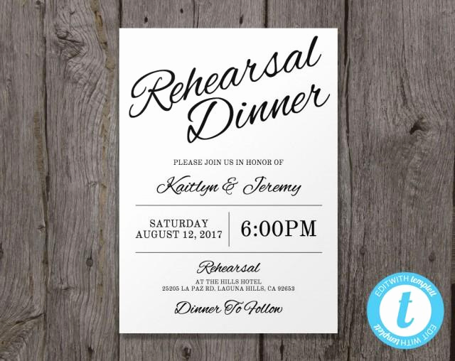 Rehearsal Dinner Invitation Template Lovely Printable Wedding Rehearsal Dinner Invitation Template