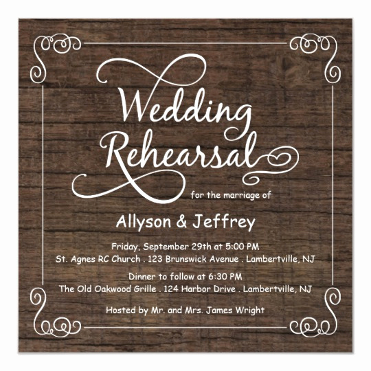 Rehearsal Dinner Invitation Template Lovely Rustic Wood Wedding Rehearsal Dinner Invitations