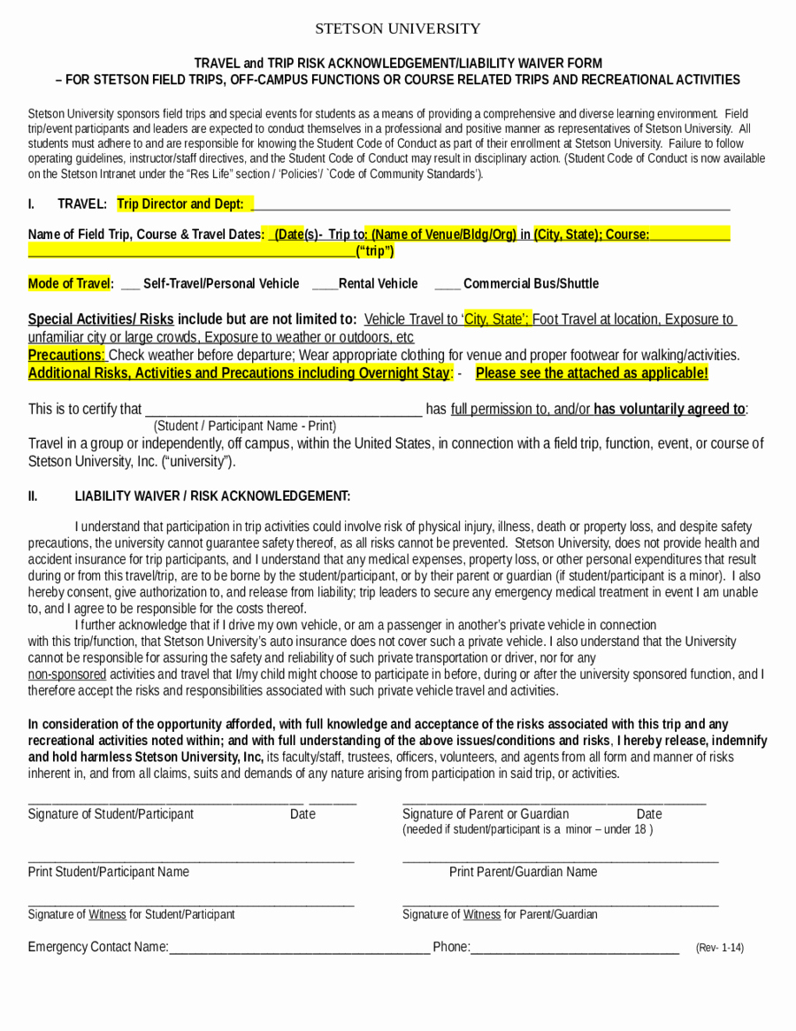 Release From Liability form Luxury 2019 assignment Of Deed Of Trust form Fillable