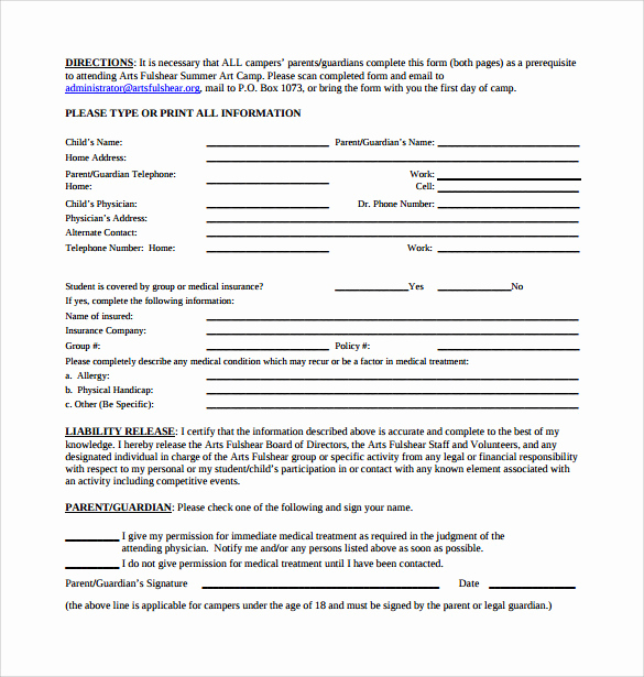 Release From Liability form Luxury 9 Liability Release forms – Samples Examples & formats