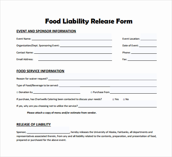 Release From Liability form Unique Sample Liability Release form Examples 9 Download Free