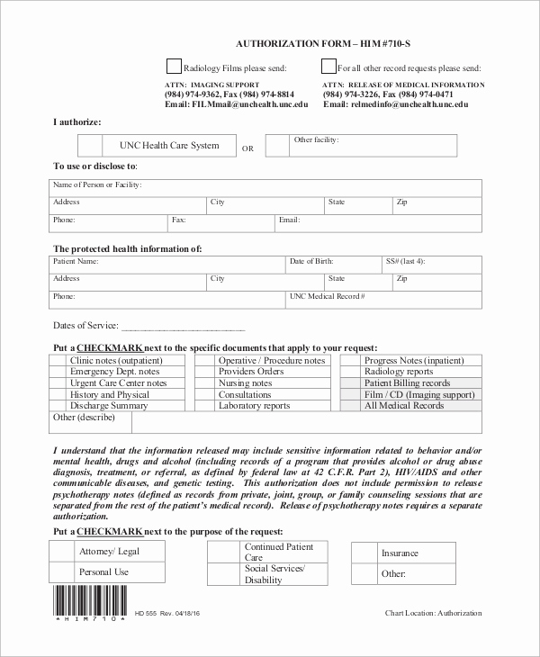 Release Of Medical Information form Luxury Sample Release Of Information form 9 Examples In Word Pdf