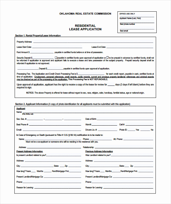 Rent Application form Pdf Luxury Rental Application – 18 Free Word Pdf Documents Download