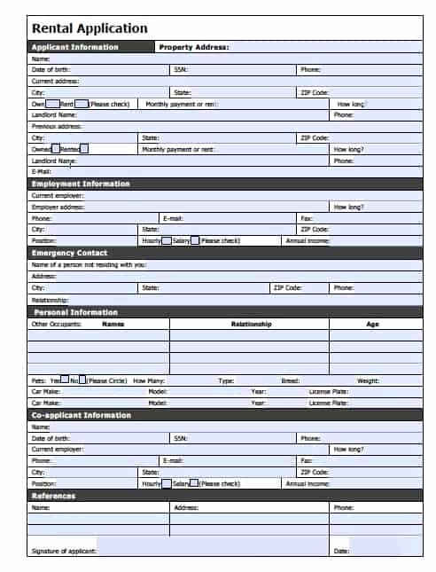 Rent Application form Pdf New Free Nevada Rental Application – Pdf Template