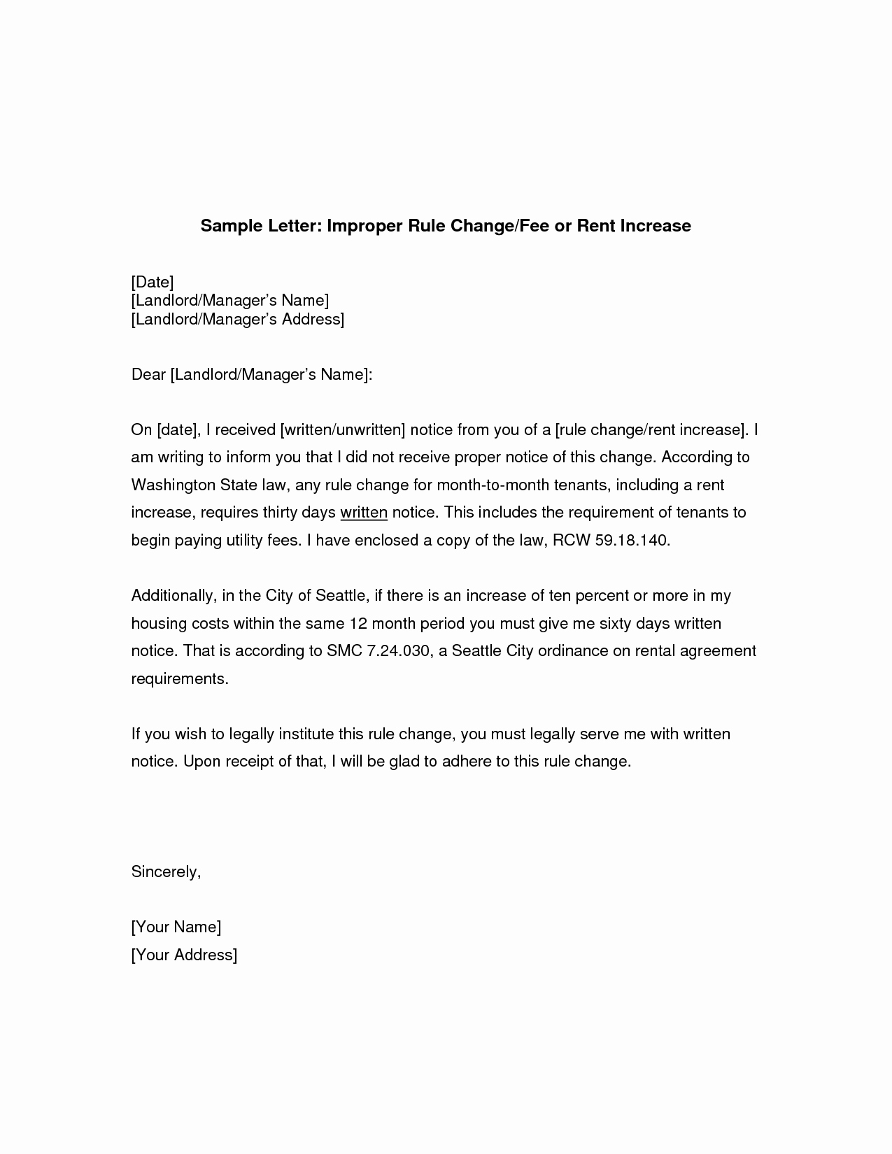 Rent Increase Letter Pdf Fresh Rent Free Letter From Parents Template Examples