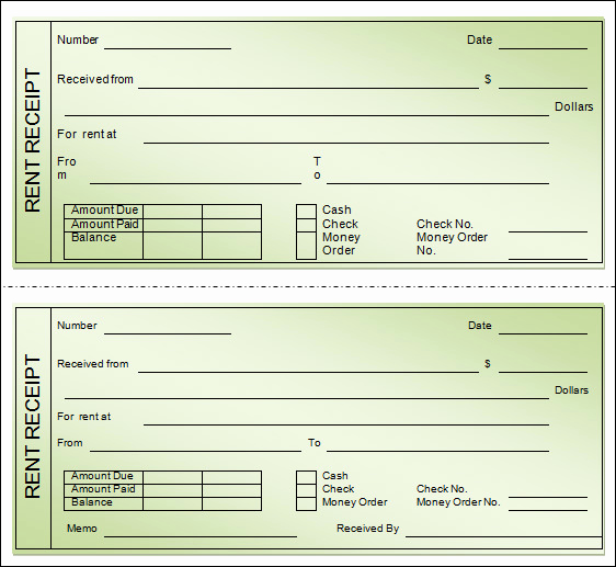 Rent Receipt Template Word Awesome Sample Rent Receipt Template 20 Download Free Documents