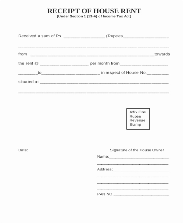 Rent Receipt Template Word Unique Printable Rent Receipt Sample 7 Examples In Word Pdf