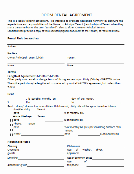 Rent to Own Contract Templates Fresh Rental Agreement Template 25 Templates to Write Perfect