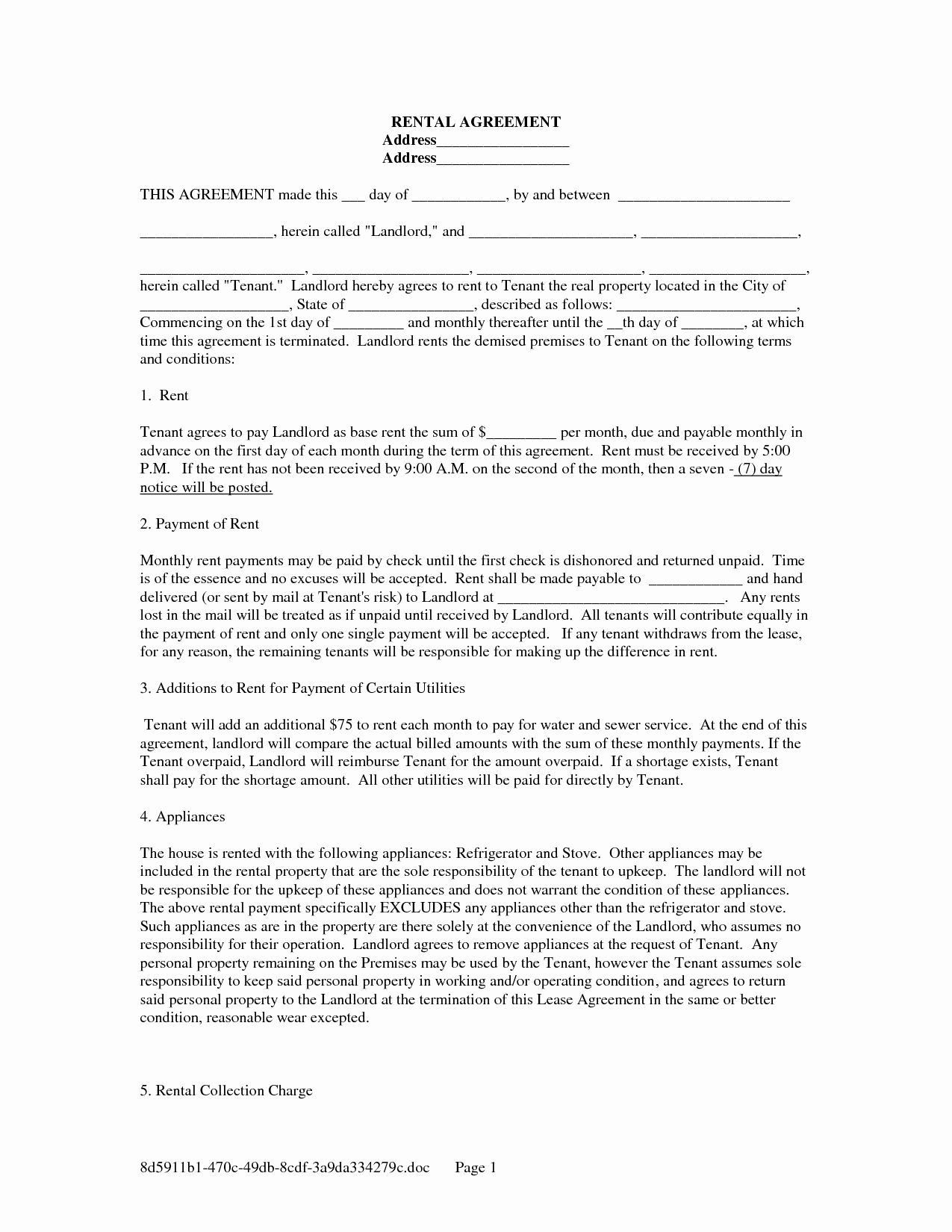 Rental Agreement Template Free Fresh Free Copy Rental Lease Agreement