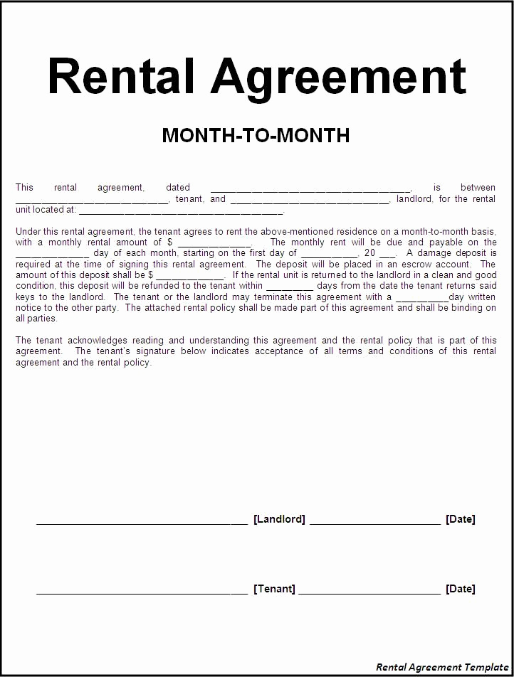 Rental Agreement Template Free New Printable Sample Rental Lease Agreement Templates Free