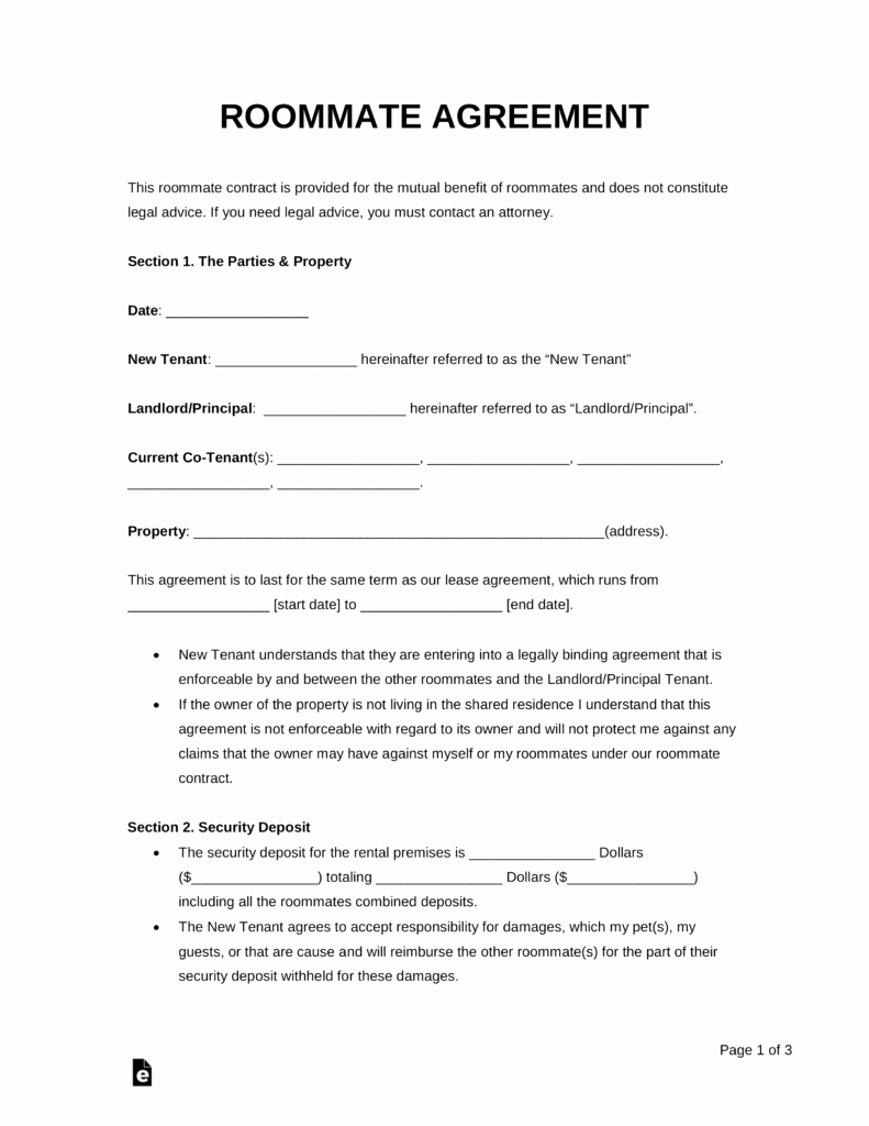 Rental Agreement Template Word Awesome Free Roommate Room Rental Agreement Template Pdf