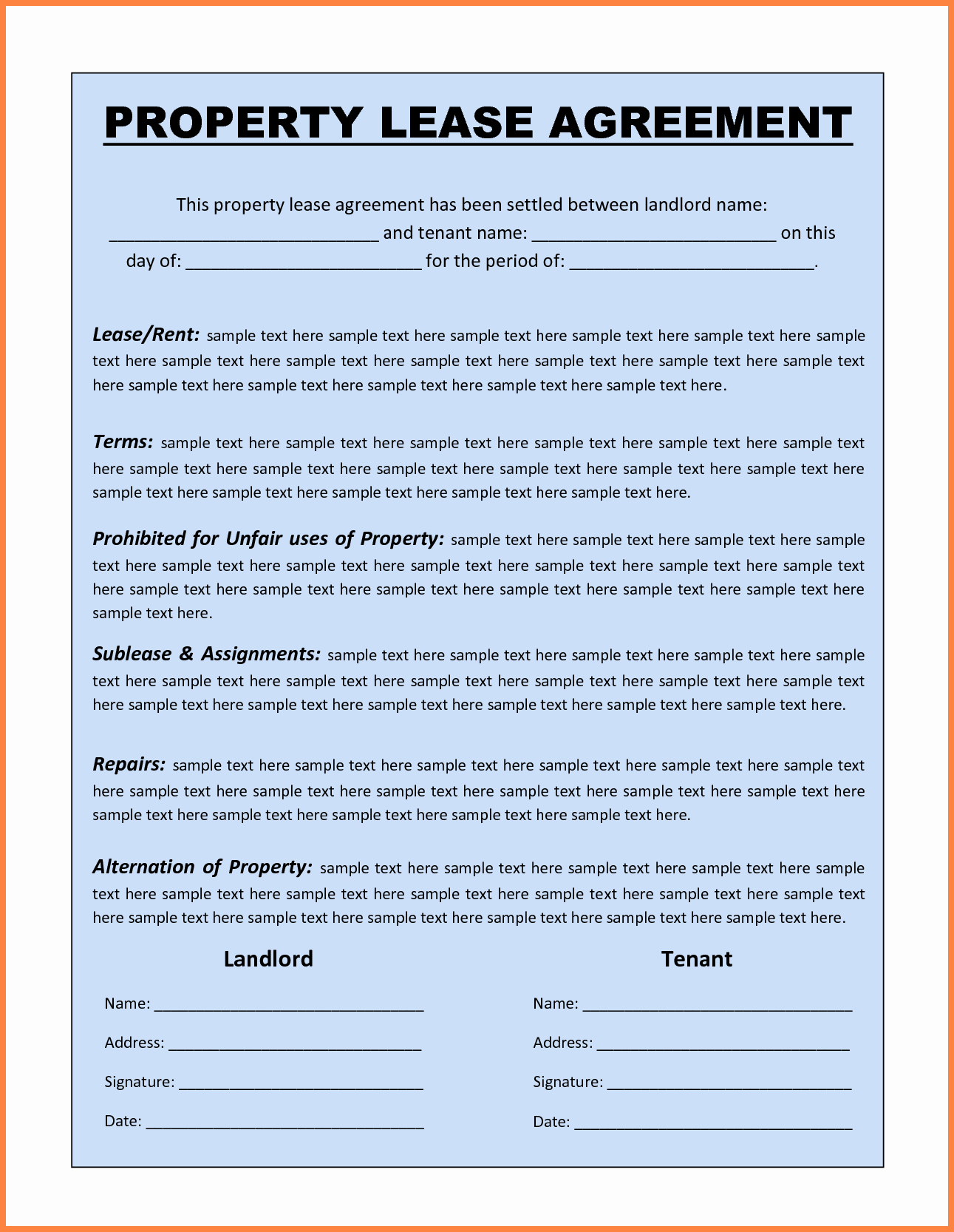 Rental Agreement Template Word Fresh 13 Mercial Lease Agreement Template Word